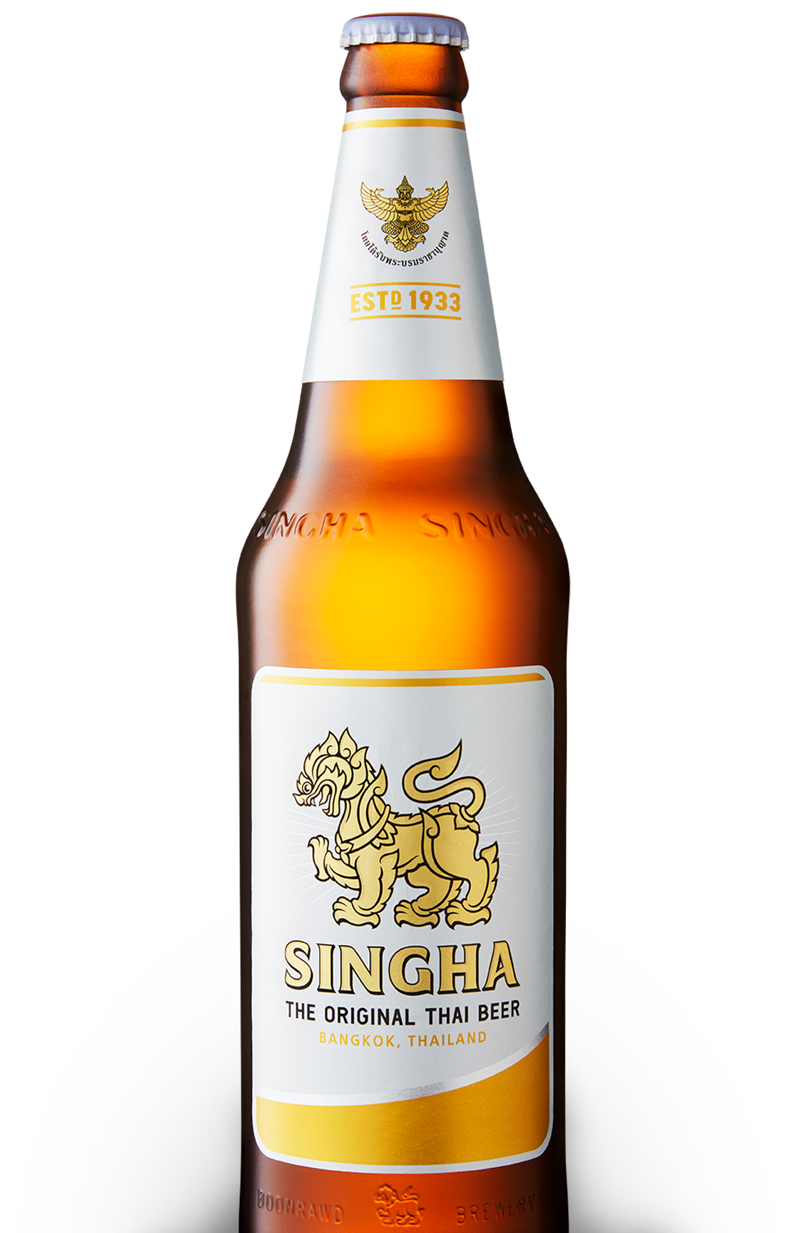 Singha Bottle With Garuda Thai Symbol of Excellence