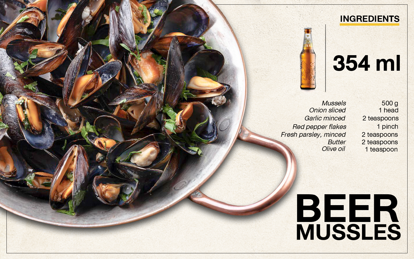 Singha Beer Mussels Recipe